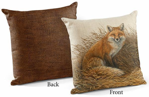 <I>Rusty Retreat&mdash;fox</i> 18 Decorative Pillow