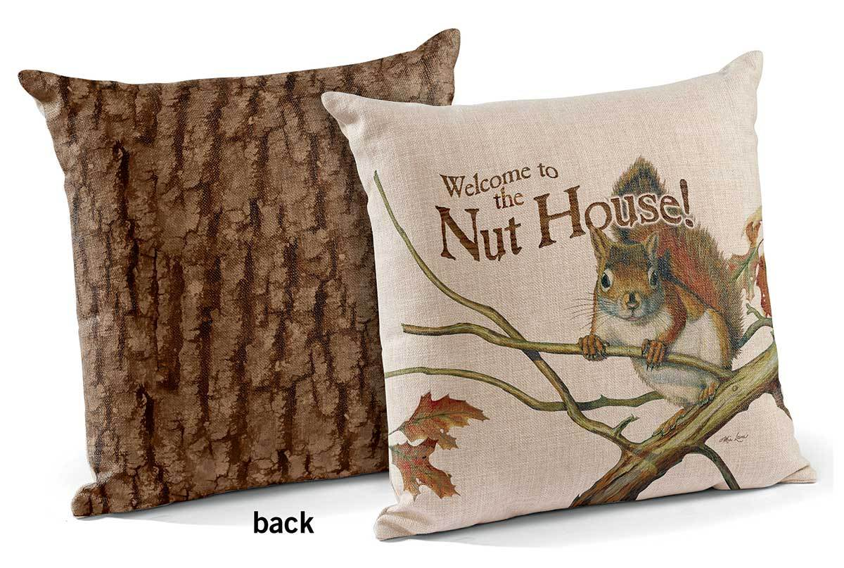 <I>Welcome To The Nuthouse</i> 18 Decorative Pillow