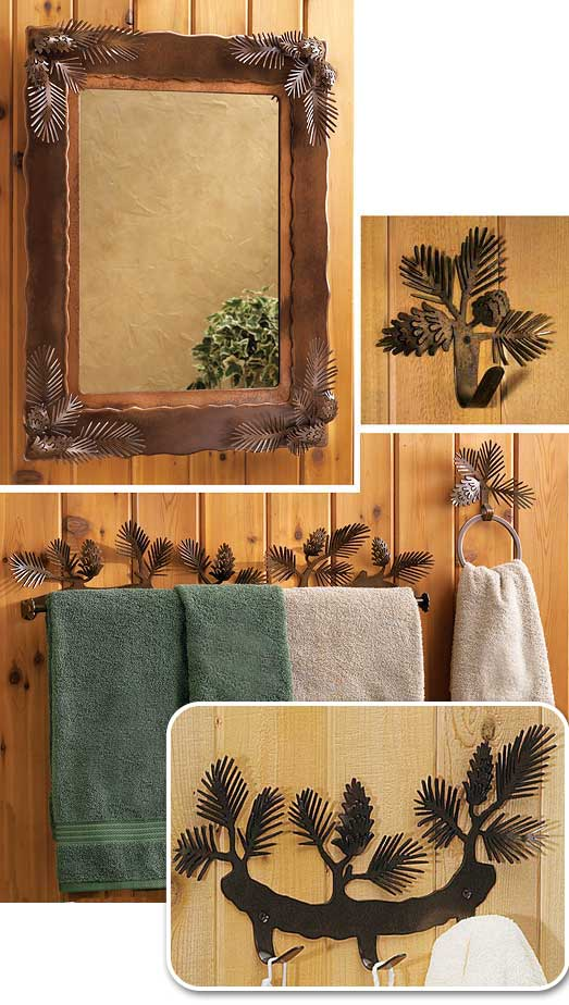 Pinecone Bath Accessories