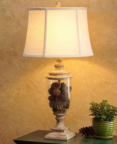 Pinecone Cluster Table Lamp