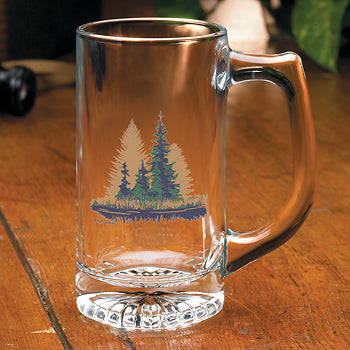 Misty Forest Stein Glasses