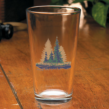 Misty Forest Mixer Glasses