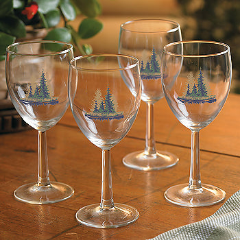 Misty Forest White Wine Glasses