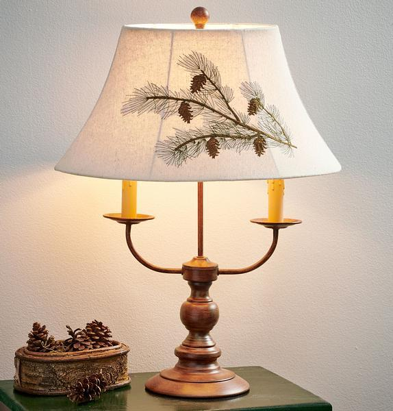 Pinecone Candelabra Table Lamp