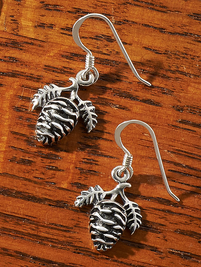 Pinecone Sterling Silver.