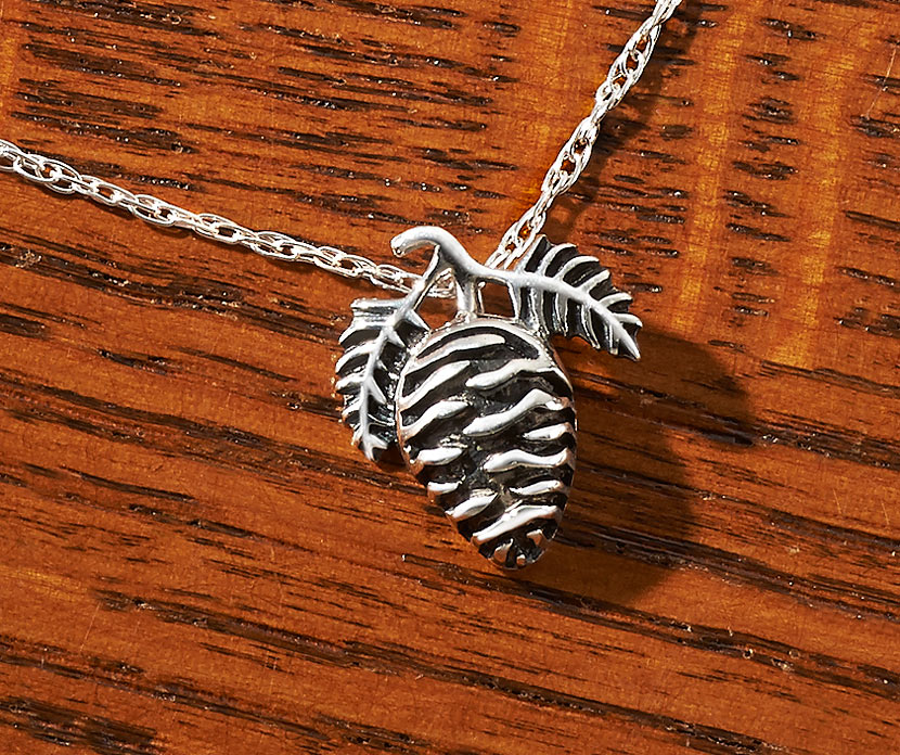 Pinecone Sterling Silver Necklace