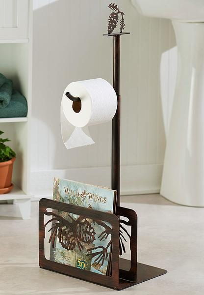 Pinecone Cluster Toilet Paper Holder
