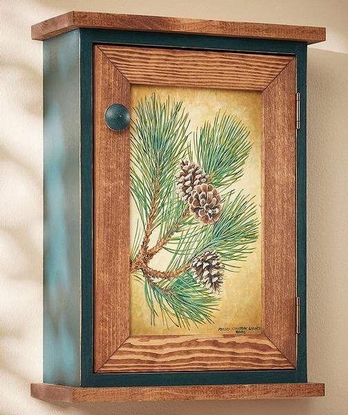Fruits Of The Pine Wall Cabinet
