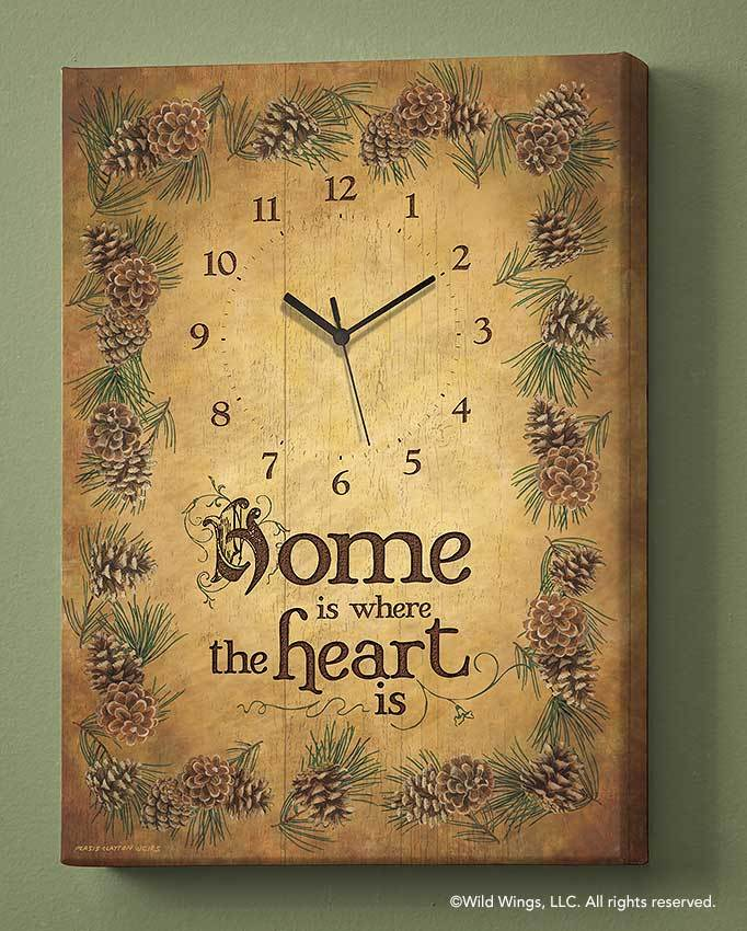 Home Is Where The Heart Is Canvas Clock