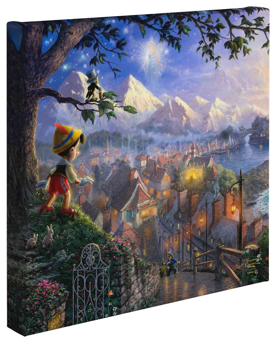 <I>Pinocchio Wishes Upon A Star</i> Gallery Wrapped Canvas