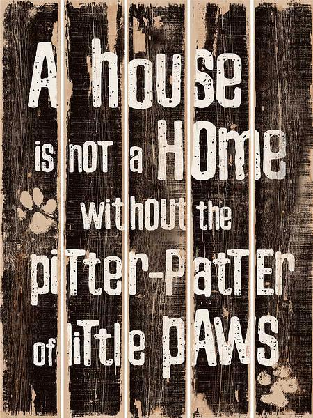 Pitter Patter 18 X 24 Pallet Art Sign