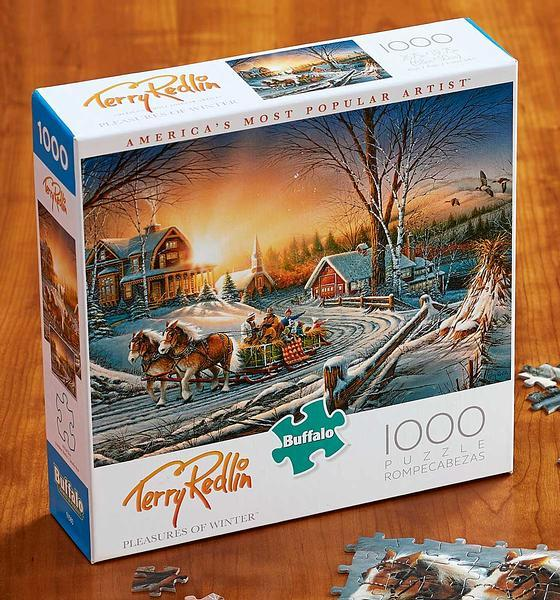 Pleasures Of Winter 1000 Piece Puzzle