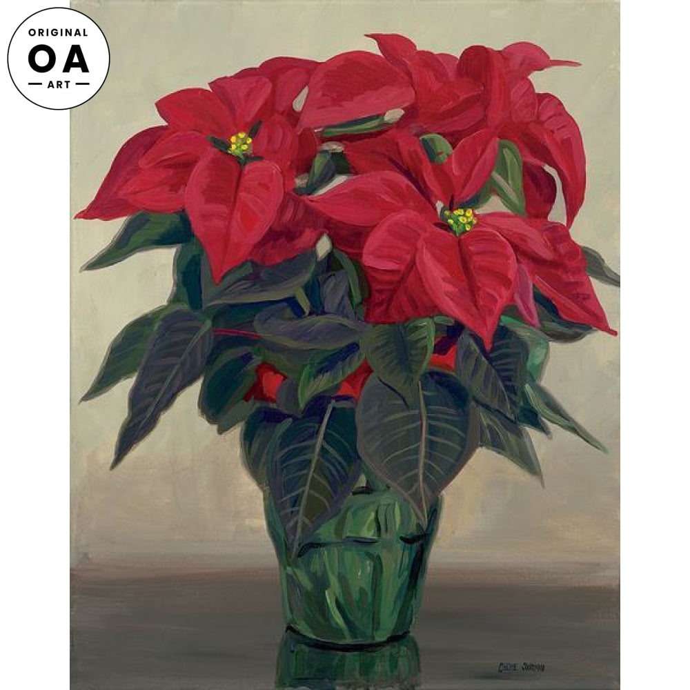 Poinsettias.