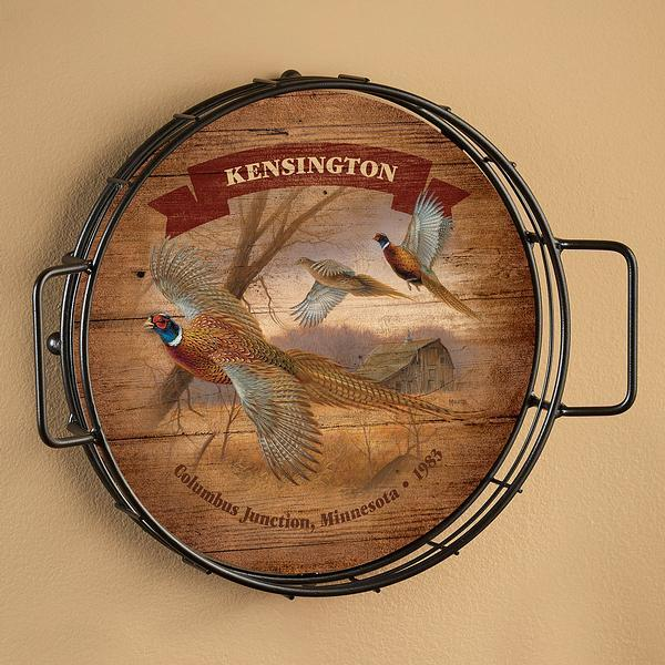 <I>Prairie Wings&mdash;pheasants</i> Personalized Serving Tray