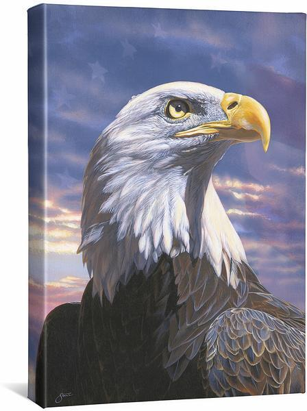<I>Pride&mdash;bald Eagle</i> Gallery Wrapped Canvas
