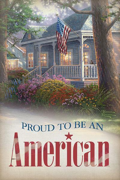 <I>Proud To Be An American</i> 12 X 18 Wood Sign