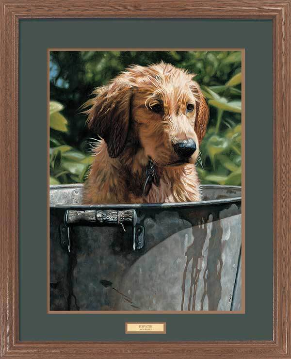<I>Puppy Stew</i> Gna Premium Framed Print<Br/>31H X 25W Art Collection