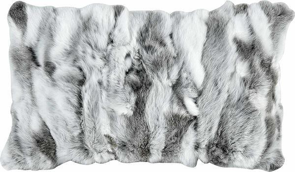 Rabbit Fur Lumbar Pillow