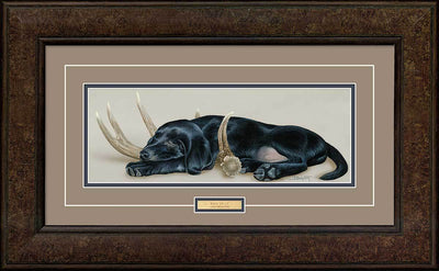 <I>Rack Em Up&mdash;black Lab</i> Framed Print<Br/>18.25H X 29.75W Art Collection