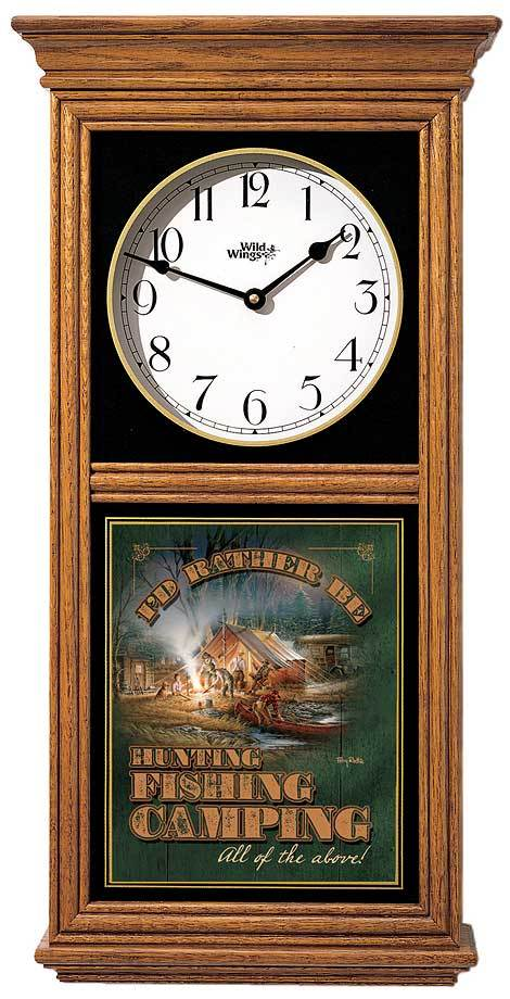Rather Be Hunting Regulator Clock
