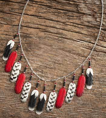Red Black & White Necklace
