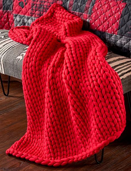 Red Chunky Knit