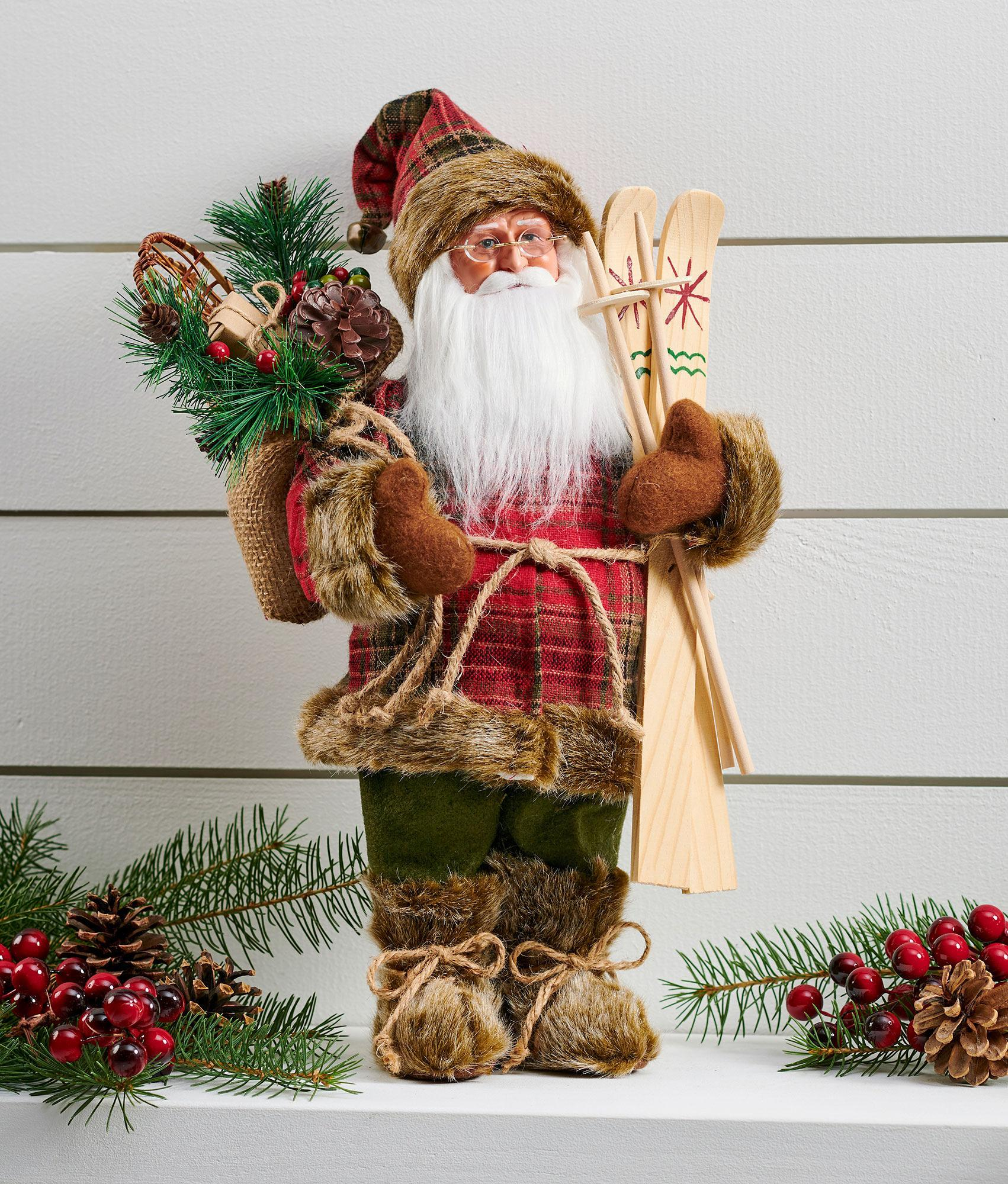 Red Glen Plaid Woodsman Santa