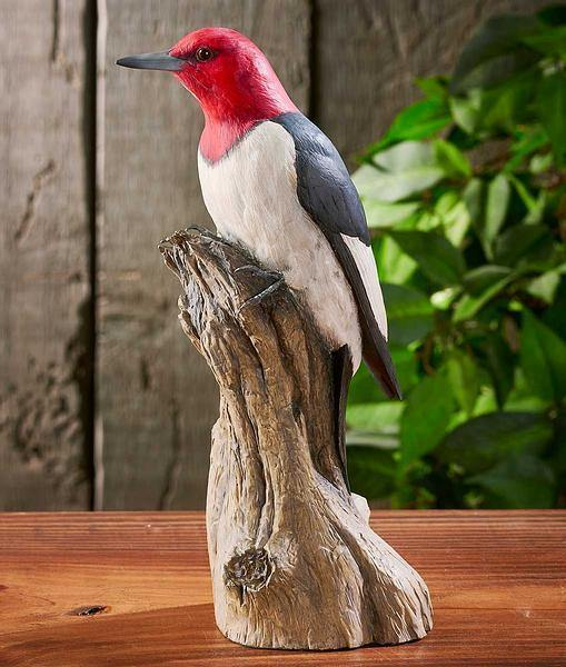 Red-Headed Woodpecker Sculpture