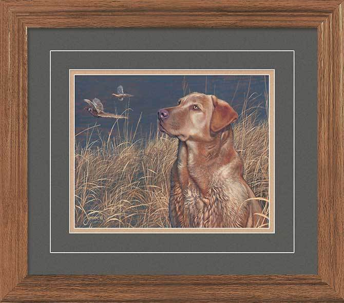 <I>Field Companion&mdash;red Lab</i> Gna Deluxe Framed Print