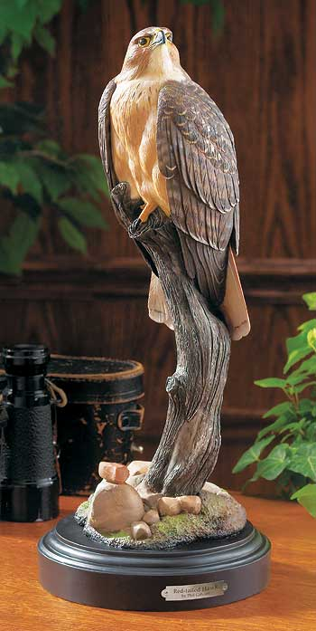 Red Tailed Hawk Sculpture
