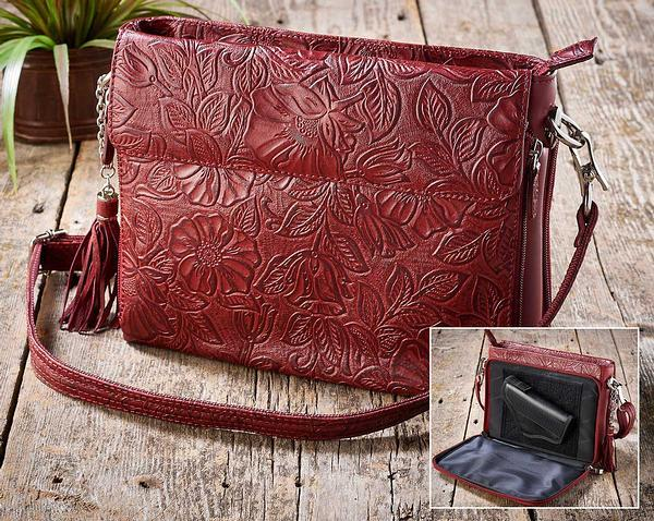 Red Tooled Leather.