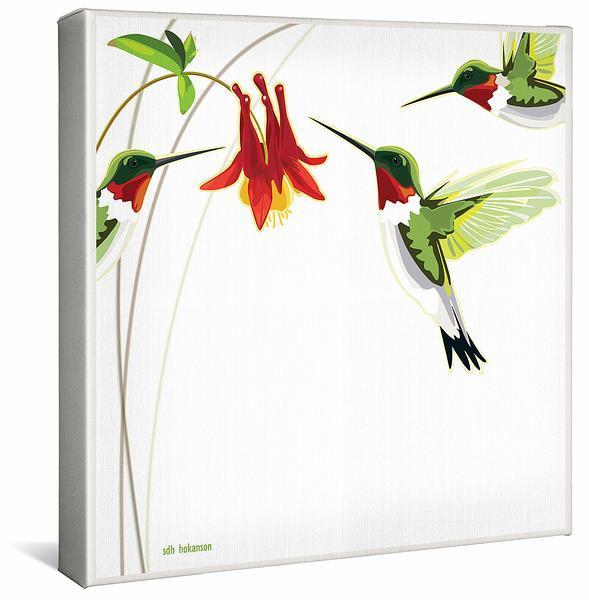 <I>Red Light District&mdash;hummingbird</i> Gallery Wrapped Canvas