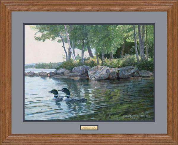 <I>Reflection Cove&mdash;loons</i> Gna Premium Framed Print<Br/>25H X 31W Art Collection