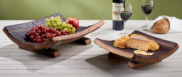 Reclaimed Wine Barrel Wooden Bowls