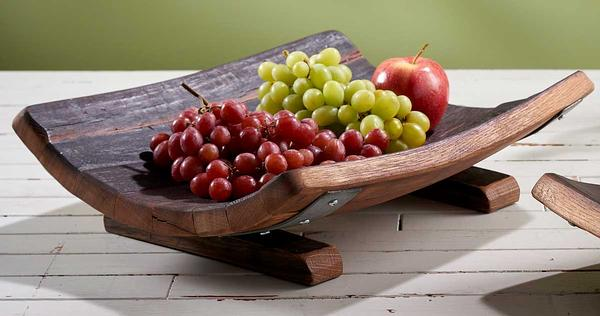 Reclaimed Wine Barrel Wooden Bowl