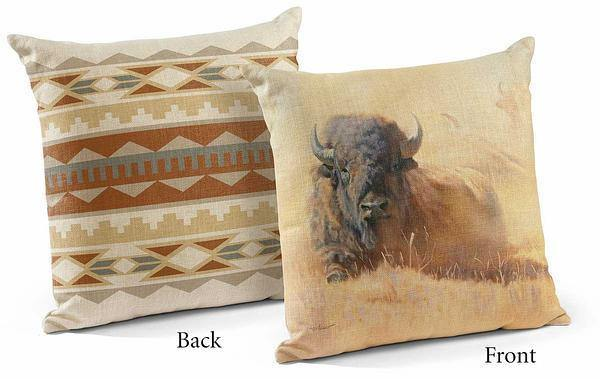 <I>Resting Bull&mdash;bison</i> 18 Decorative Pillow
