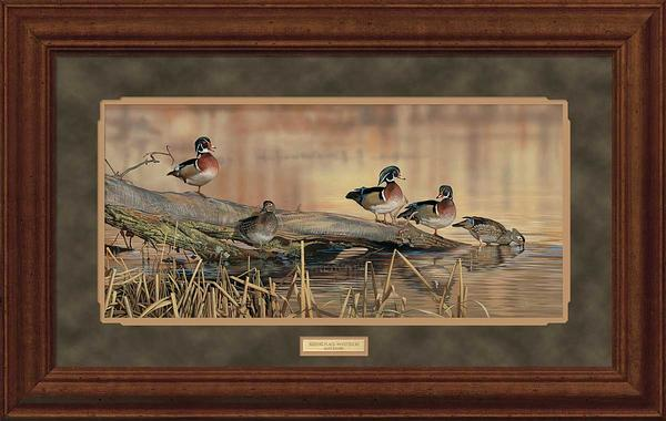 Resting Place-Wood Ducks Art Collection