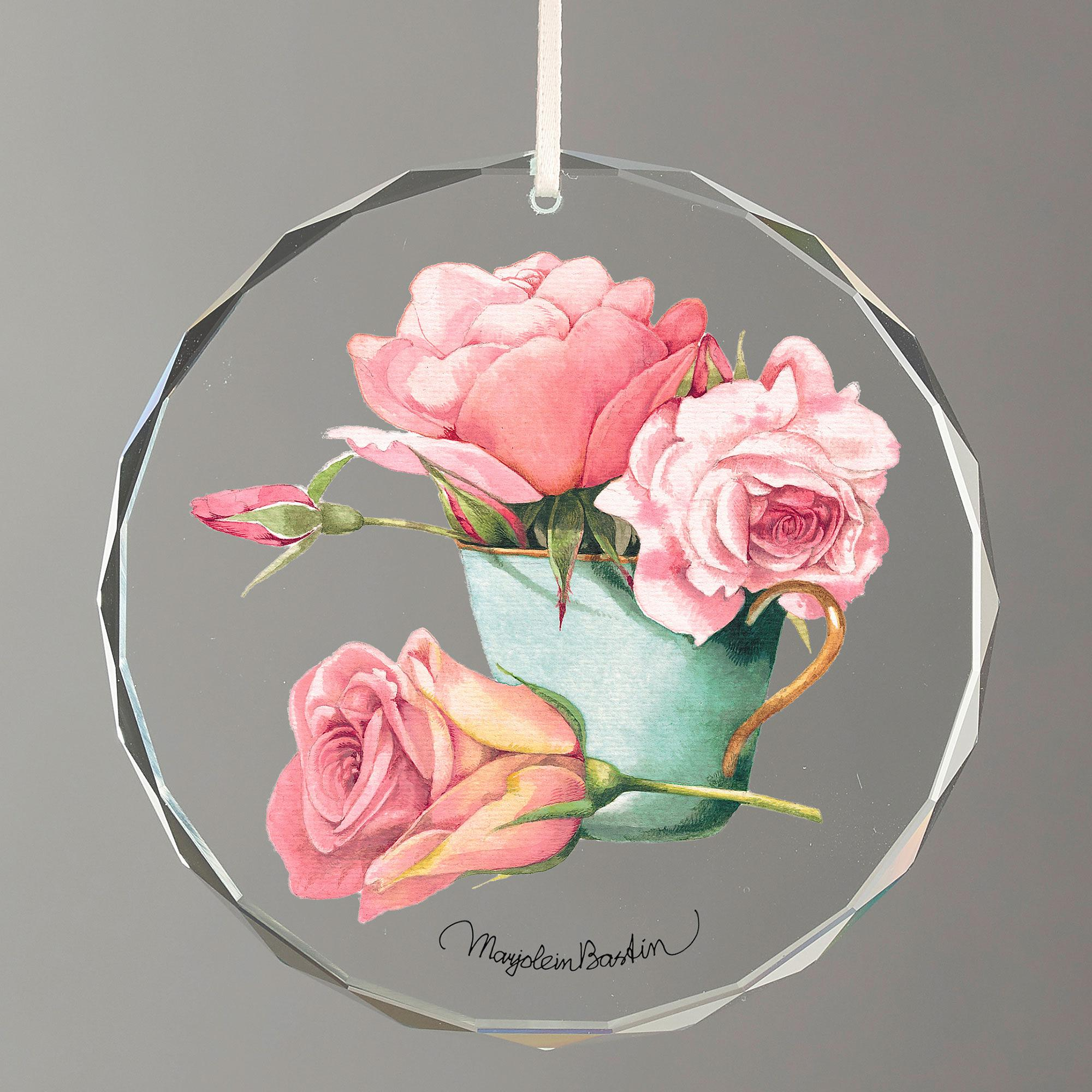 Pink Roses in Tea Cup.