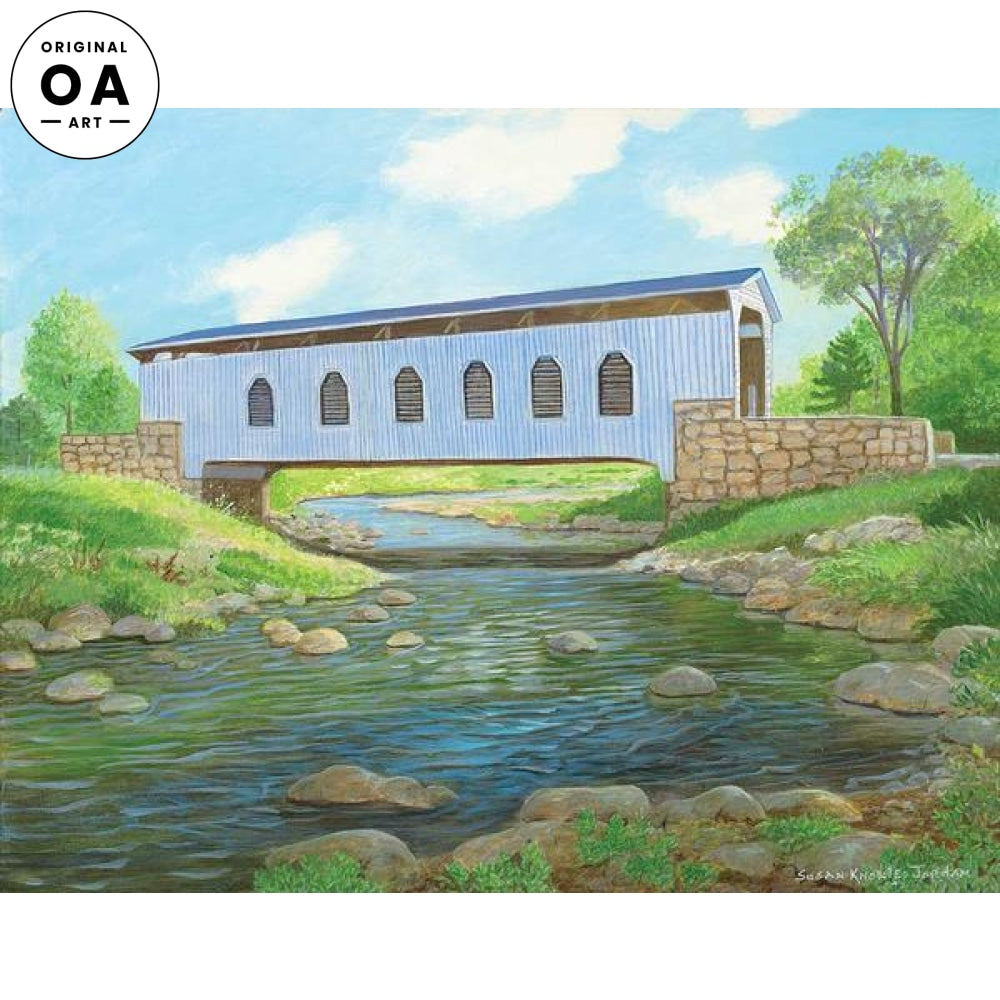 Roaring Branch—Covered Bridge Original Artwork