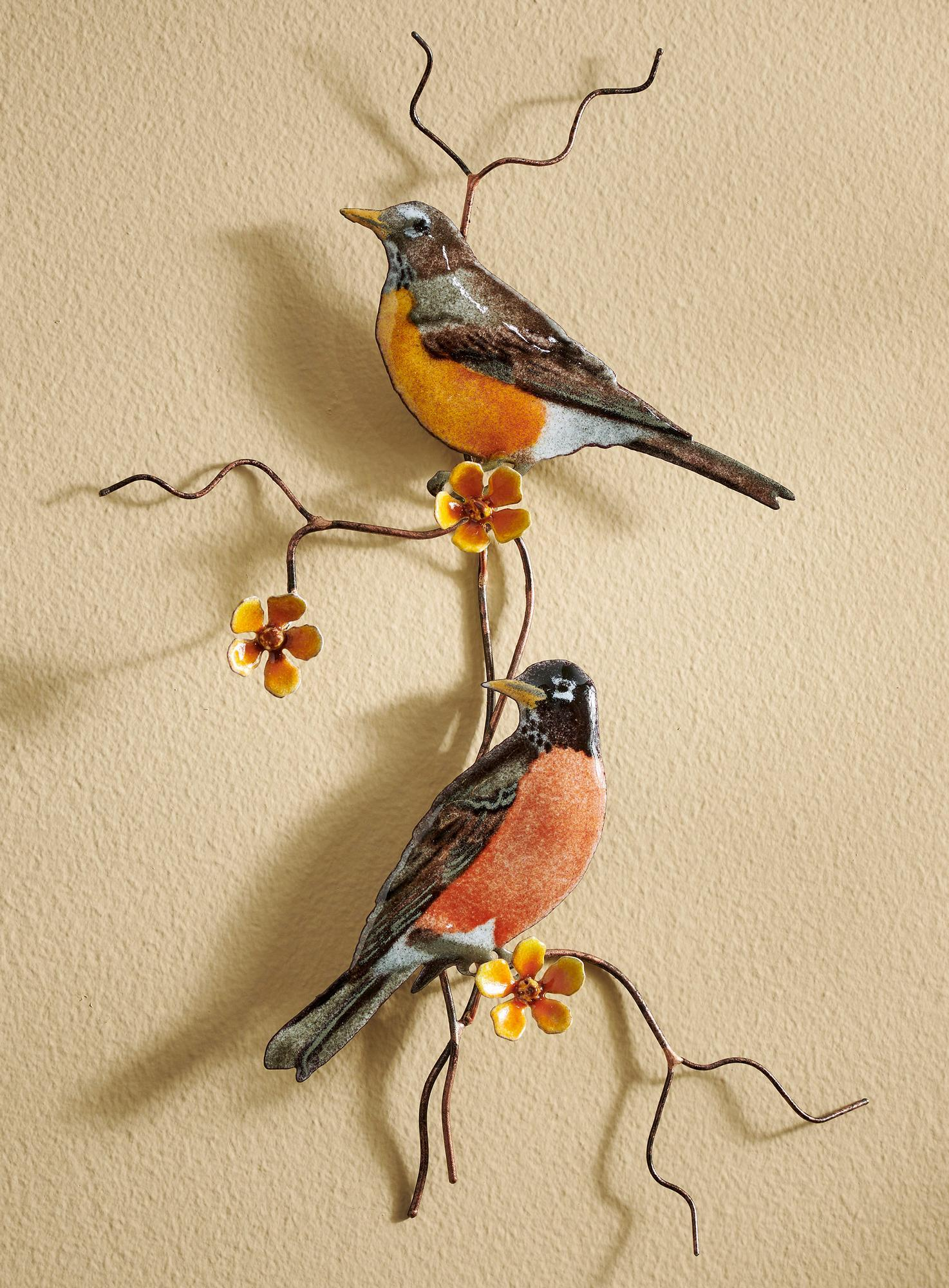 Robins Enamel Wall Art