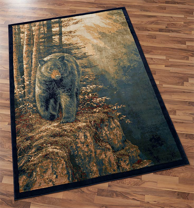 Black Bear Area Rug Collection