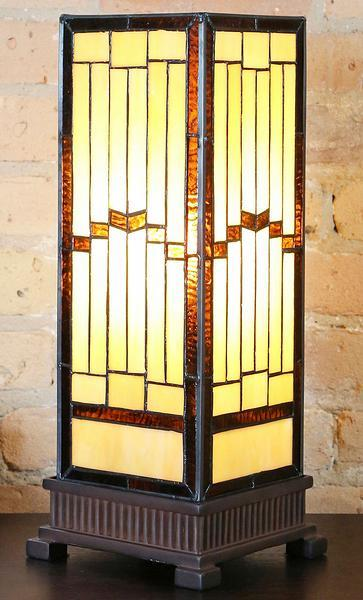 Stained Glass Hurricane Accent Lamp