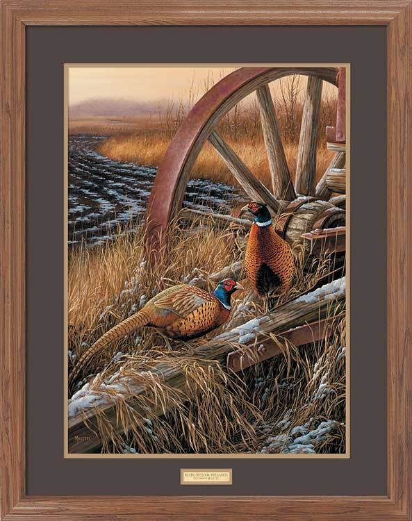 <I>Rustic Outlook&mdash;pheasants</i> Gna Premium Framed Print<Br/>31H X 25W Art Collection