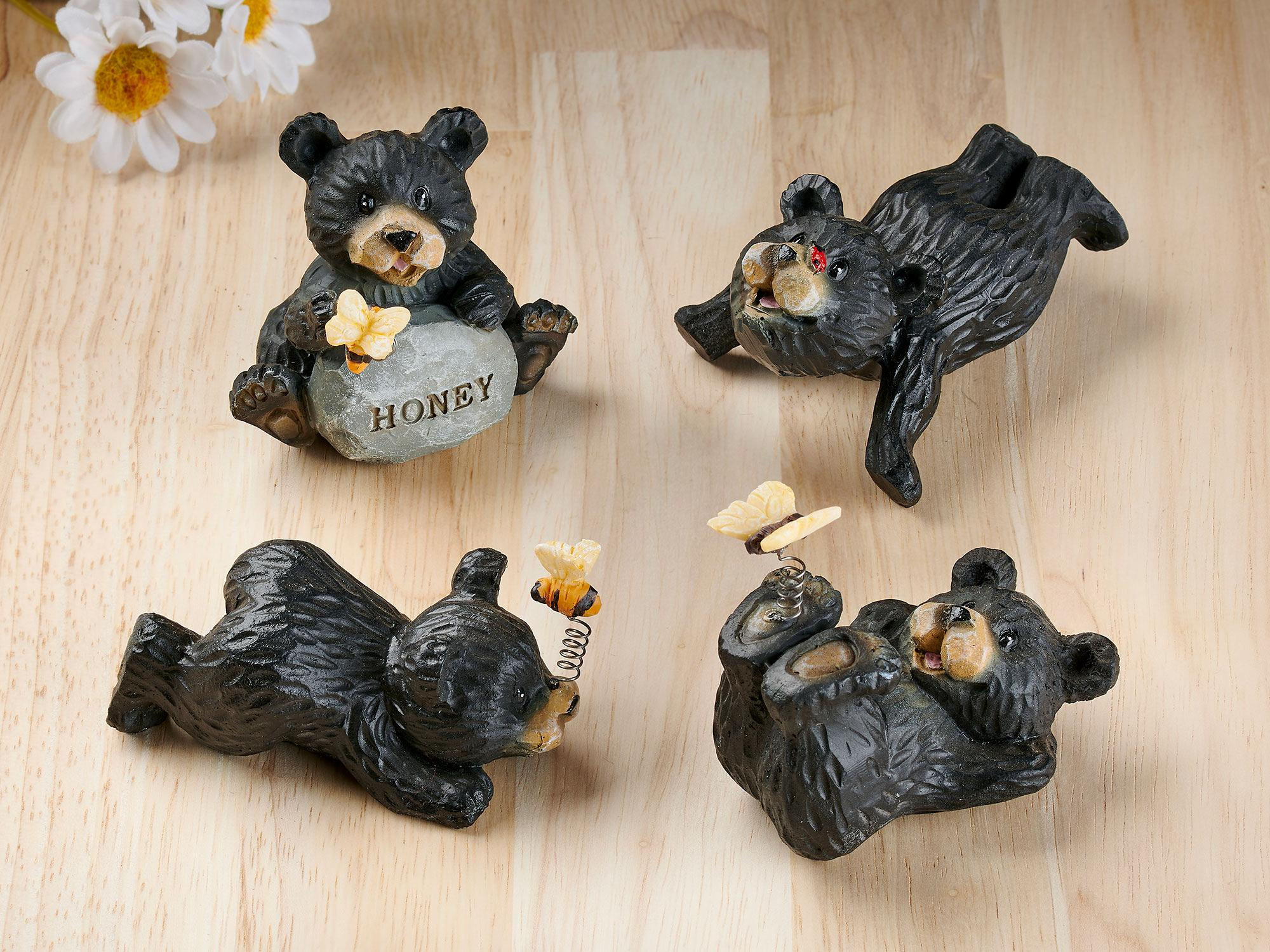 Frolicking in Happiness Bear Sculptures
