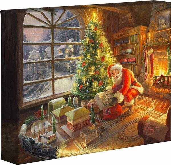 Santas Special Delivery Gallery Wrapped Canvas
