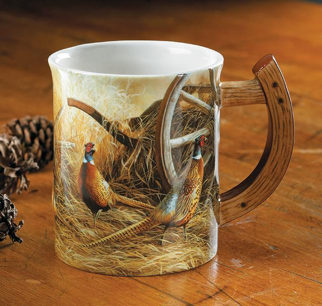 Pheasants Sculpted Mug