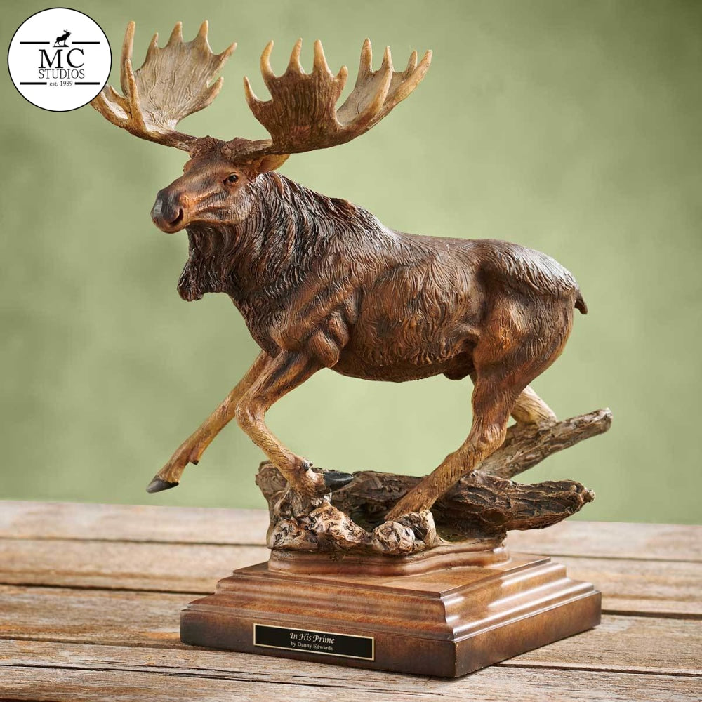 In His Prime—moose By Mill Creek Studios Sculpture