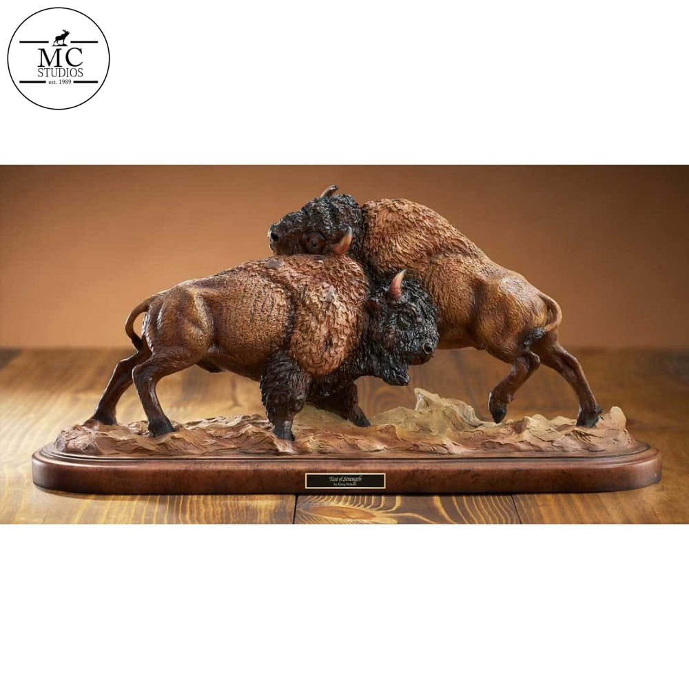 <I>Test Of Strength&mdash;bison</i> By Mill Creek Studios Sculpture