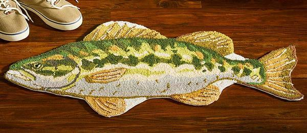 Bass Shaped Area Rug