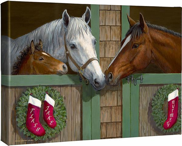<I>Seasons Greetings</i> Personalized Wrapped Canvas